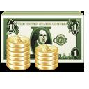 banknot dolar i bilon